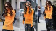 Victoria Beckham sành điệu như người mẫu trên phố