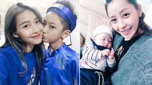 Khả Ngân rạng rỡ bên em trai- Chi Pu thích có em bé