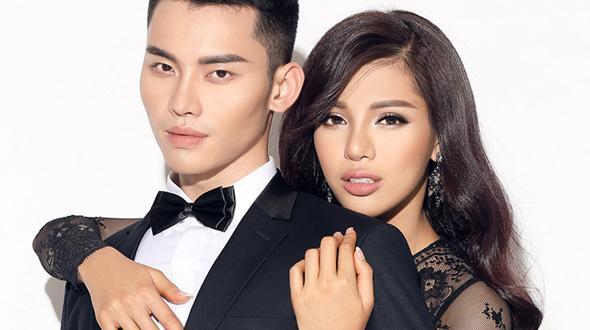 """Siêu mẫu vàng Khả Trang không ngại tình cảm với """"người tình"""" Mạnh Khang"""