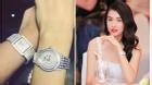 Á Hậu Lệ Hằng đeo đồng hồ kim cương tiền tỉ đi sự kiện