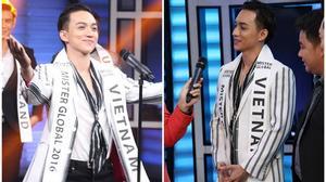 """""""Choáng"""" khi Phúc Cường nói tiếng Anh lưu loát tại cuộc thi Mister Global 2016"""