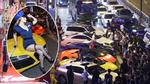 Nhà giàu Trung Quốc tổ chức tiệc siêu xe khiến giao thông rối loạn