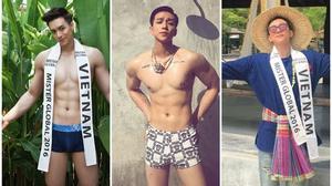 Phúc Cường tự tin khoe cơ bụng 6 múi tại đấu trường Mister Global 2016