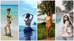 'Bỏng mắt' ngắm sao Việt diện bikini dịp lễ