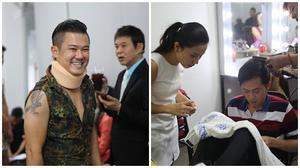 Vân Quang Long 'gãy cổ' vẫn đi hát, Hoài Linh khâu áo cho thí sinh trong hậu trường