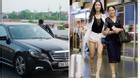 Vũ Ngọc Anh được mẹ lái xe sang đưa ra sân bay