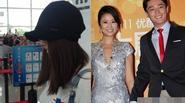 Lâm Tâm Như ngại ngùng tại sân bay sau khi công khai yêu Hoắc Kiến Hoa