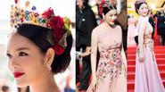 Lý Nhã Kỳ hóa nữ hoàng, đội vương miện trên thảm đỏ Cannes