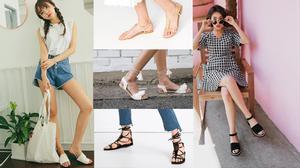 Update ngay 8 kiểu sandal đế bệt trendy nhất hè này
