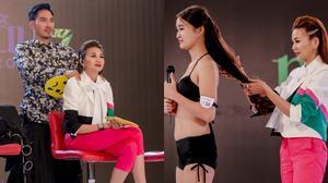 Được Lý Quí Khánh chăm sóc, Thanh Hằng có sức mạnh cắt phăng tóc thí sinh