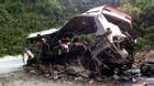 Hiện trường thảm khốc vụ nổ xe khách ở Lào làm 8 người Việt tử vong