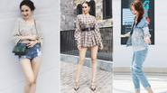 """Phạm Hương, Angela Phương Trinh """"thi nhau"""" đọ chân dài trong street style tuần qua"""