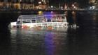 Hiện trường khi chiếc tàu du lịch bắt đầu chìm trên sông Hàn
