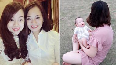 Con trai Ly kute ấm áp trong vòng tay gia đình ngày tròn 3 tháng tuổi