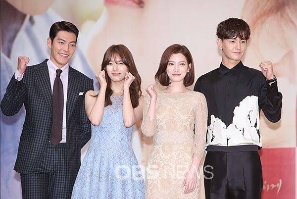 Không ngại Lee Min Ho ghen tị, Suzy e ấp bên cạnh bạn diễn nam