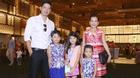 """Bình Minh """"tháp tùng"""" vợ con và con gái Trương Ngọc Ánh đi sự kiện"""