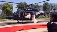 Đại gia đón dâu bằng trực thăng giữa đường gây bức xúc dư luận