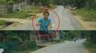 Tài xế hốt hoảng vì người phụ nữ chạy bộ lao vào đầu ôtô