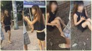 Hà Nội: Cô gái nghi ngáo liên tục đòi lao đầu vào ô tô, miệng không ngừng lảm nhảm