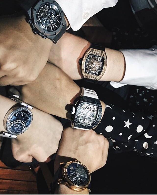 Bộ sưu tập đồng hồ hiệu xa xỉ Richard Mille, Patek Phillipe Nautillus của hội thiếu gia