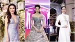 Dàn sao xúng xính áo váy đội mưa tham dự đêm Chung kết Hoa hậu Việt Nam