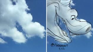 Nghệ thuật bây giờ còn là vẽ tranh hoạt hình lên những đám mây