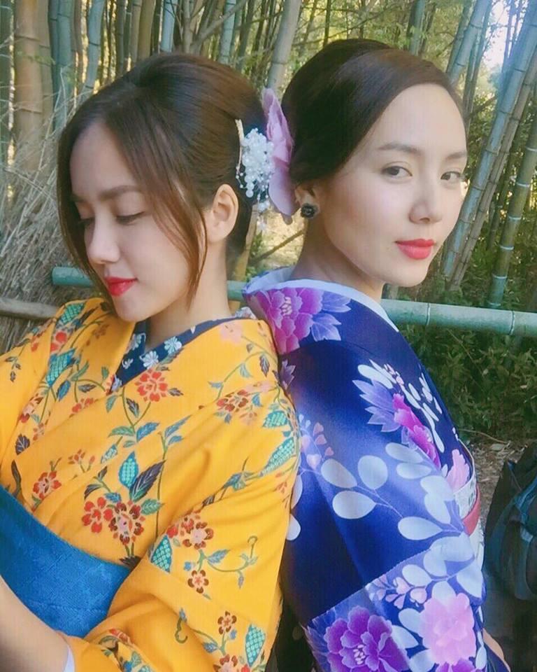 Phương Ly đăng ảnh xinh đẹp cùng chị gái Phương Linh đồng thời gửi lời  chúc mừng sinh nhật tới chị gái.