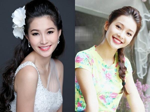 Ánh mắt, nụ cười, gương mặt trái xoan của Khả Ngân gần như giống hệt Hoa hậu Việt Nam 2012 - Đặng Thu Thảo.
