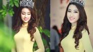 Hoa hậu Đỗ Mỹ Linh rạng rỡ khoe sắc trong áo dài vàng