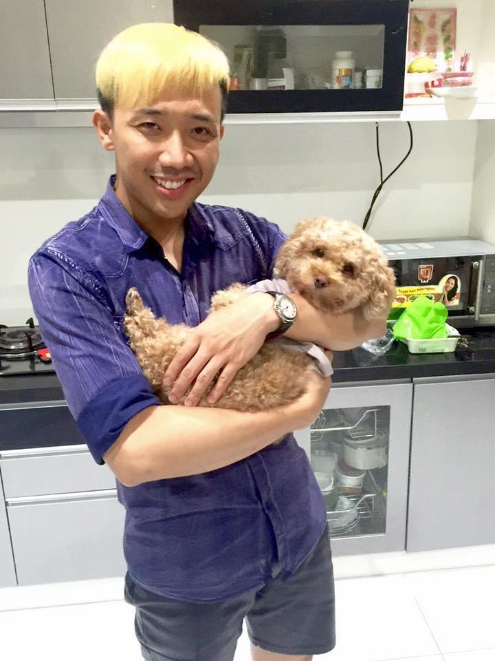 Trấn Thành yêu thương cún con: Thương không cả nhà ? Em bé nè !!!