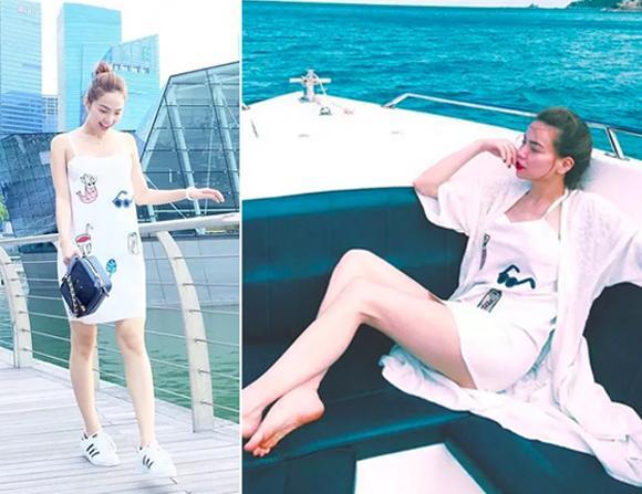 Hình ảnh Minh Hằng và Hà Hồ