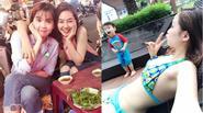 Facebook 24h: Hành động của con trai Diễm Hương khi mẹ mặc bikini - Ngọc Trinh lê la ăn uống vỉa hè