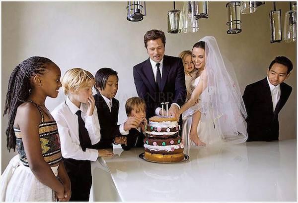 Cặp đôi có 6 con đã tổ chức hôn lễ bí mật tại biệt thự gia đình ở Pháp