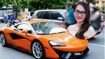 Chồng lái siêu xe McLaren 650S Spider 16 tỷ đưa Ngọc Thạch dự event