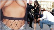 """Vừa bị sàm sỡ Kim Kardashian lại """"gây sốt"""" với ảnh ngực trần trên Instagram"""