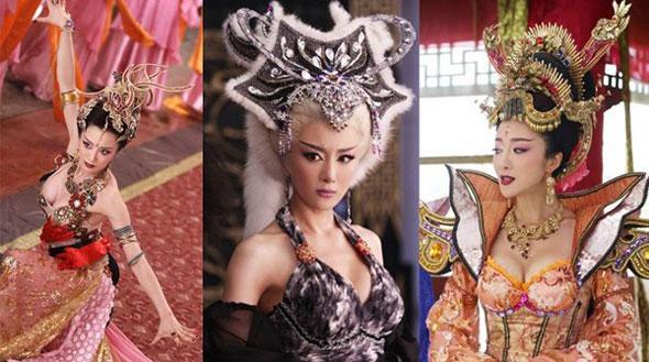 Trang phục phim cổ trang Trung Quốc ngày càng hở, xuyên tạc