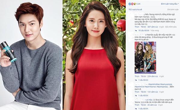 Rộ tin đồn Lee Min Ho và Yoona sắp đến Việt Nam