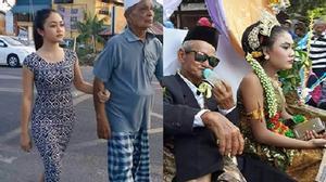 Cụ ông 66 tuổi cưới được vợ 18 tuổi đẹp tựa hot girl gây bão mạng xã hội
