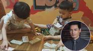 """Hai cậu bé đập ống heo để gửi cho """"chú Phan Anh"""" là hình ảnh đáng yêu nhất hôm nay!"""