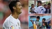 """Ronaldo lại """"đốn tim"""" fan với món quà bất ngờ dành cho cậu bé Nepal"""