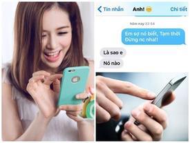 """Nhắn tin cho người yêu theo mẫu """"Em sợ nó biết lắm!"""" đi, trò này đang hot nhất Facebook đấy!"""