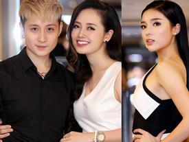 HH Kỳ Duyên khoe vai trần gợi cảm hội ngộ MC VTV yêu đồng giới Ngọc Trang tại event