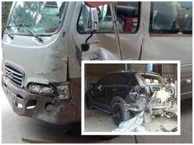 Bé trai 13 tuổi lái xe khách gây tai nạn liên hoàn
