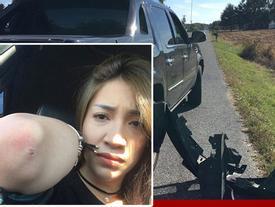 Pha Lê bị tai nạn xe hơi ở Mỹ