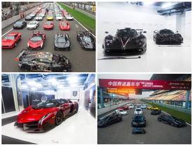 Đoàn siêu xe hàng trăm tỷ Đồng của đại gia Trung Quốc tụ hội