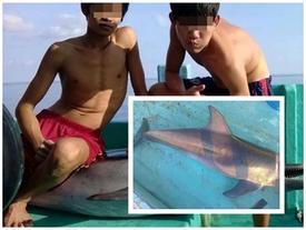 Nhóm bạn trẻ Phú Quốc bắt cá heo rồi cắt đầu, mổ bụng?