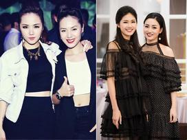 Hai cặp chị em vừa dễ thương lại sành mốt trong showbiz Việt