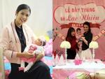 Hồng Quế mở tiệc ấm cúng mừng đầy tháng con gái