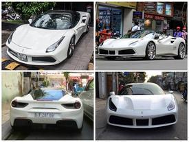"""Xem siêu xe Ferrari 488 GTB của Cường """"Đô-la"""" chật vật len lỏi trên phố"""