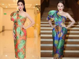Hoa hậu Đỗ Mỹ Linh đụng váy áo với loạt sao Việt